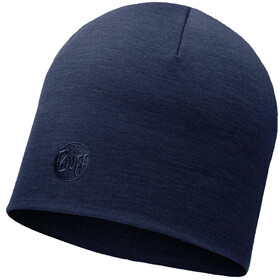 Buff Heavyweight Merino Wool Gorra Normal, solid denim